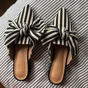 Shoes - SUMMER SHOES: ASOS BOW STRIPED FLATS